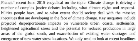 #Editorial: #ClimateJustice and #ExtremeEvents by Prof W Solecki