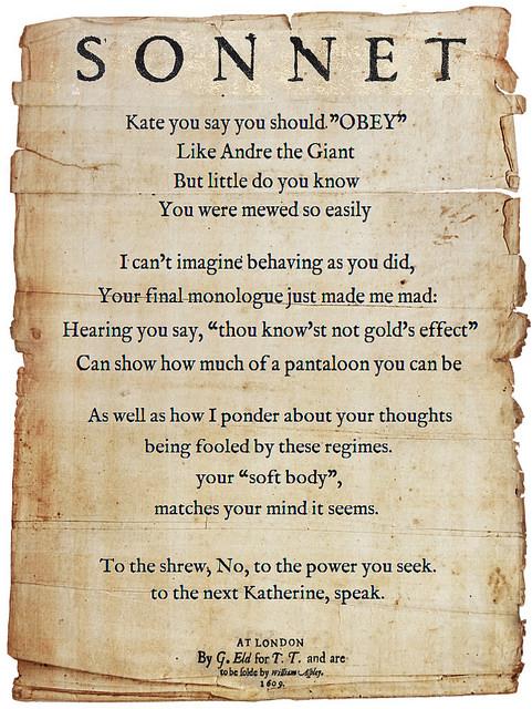 Shakespearean Sonnets- A Drama Online Installation • GCE Lab School