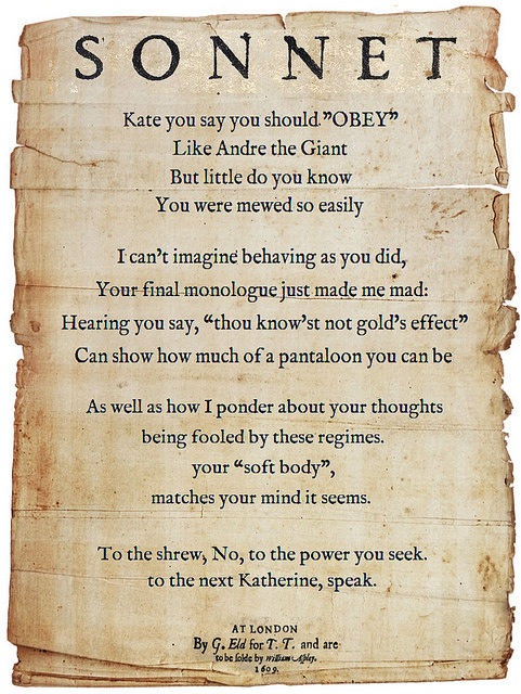 Shakespearean Sonnets- A Drama Online Installation
