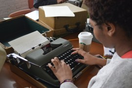 Everything is more fun and official with a typewriter.