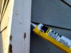 Sealing exterior trim boards