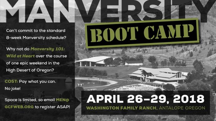 Manversity Wild at Heart Boot Camp