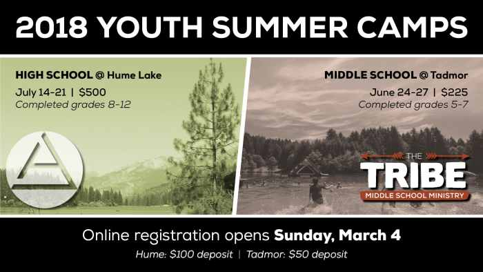 Summer Camp Save the Dates 2017