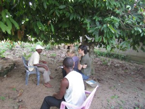 CAM's interns interviewing local councillor, Mbalangi, 2012