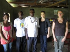 CAM's staff, interns with Chief Thompson Itoe