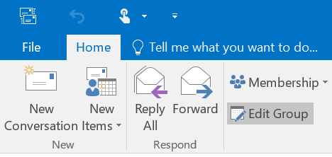 How to remove someone from an email group in outlook 365