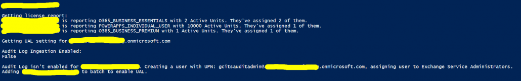 Enabling the Unified Audit Log on all delegated Office 365 tenants