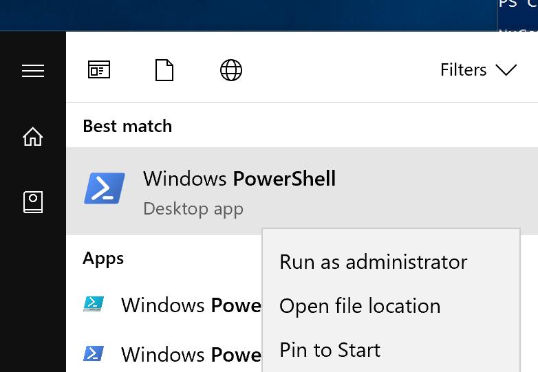 Run PowerShell As Administrator
