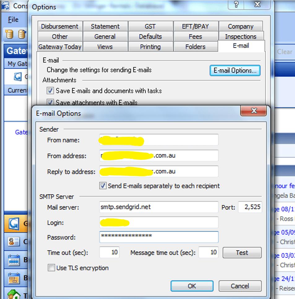 Set Up Console Gateway With SendGrid Details