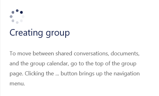 Wait For Group Creation To Finish