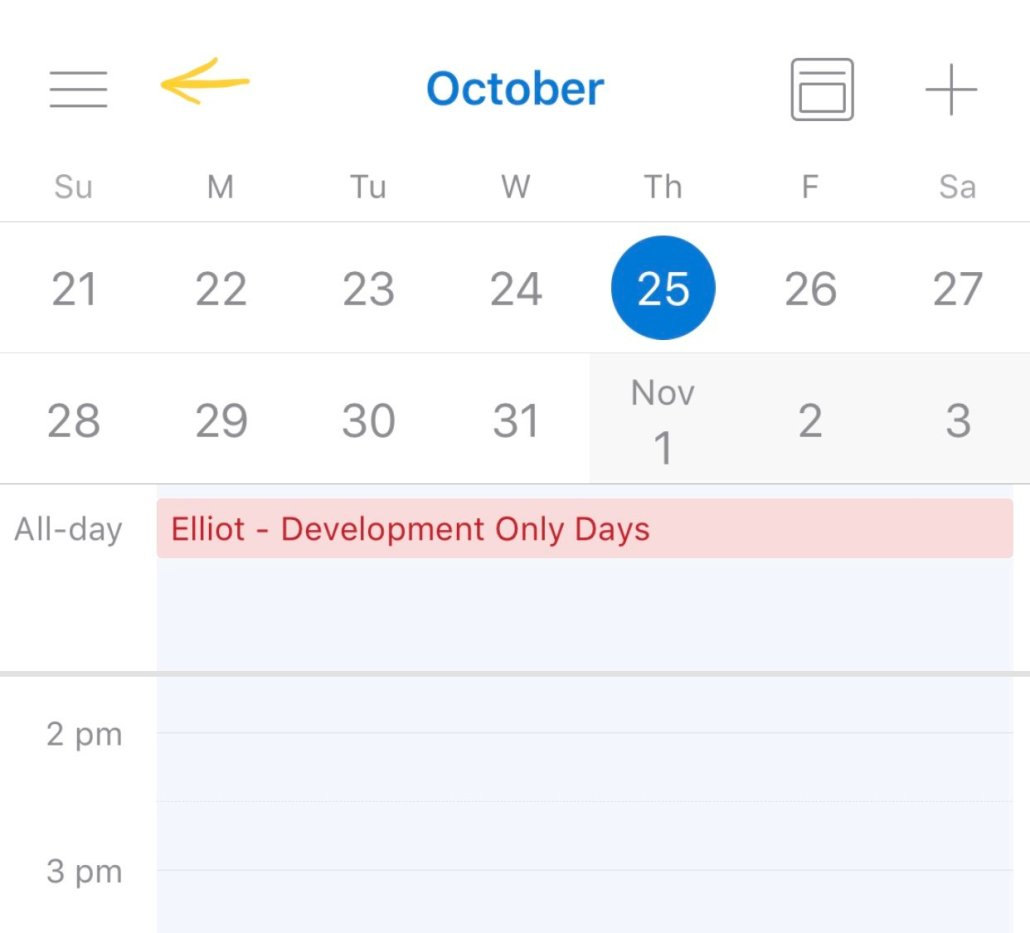 Open Outlook Calendar Menu To Add Shared Calendar