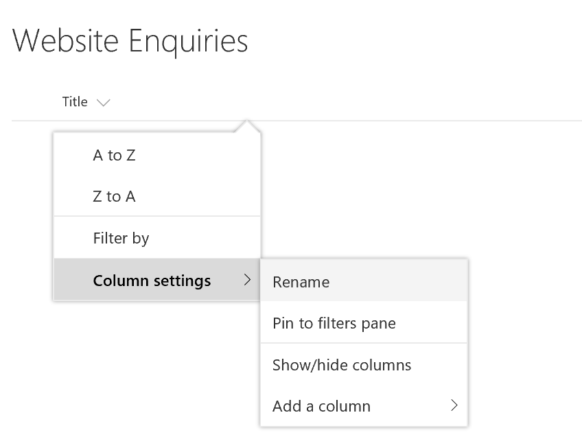 Rename Title Column In SharePoint