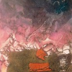 "Sounding, 12x18"", collagraph by Garry C Kaulitz"