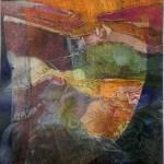 "El Borde, 10x16"", collagraph by Garry C Kaulitz"
