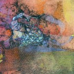 "Cuenca I, 16x20"", collagraph by Garry C Kaulitz"