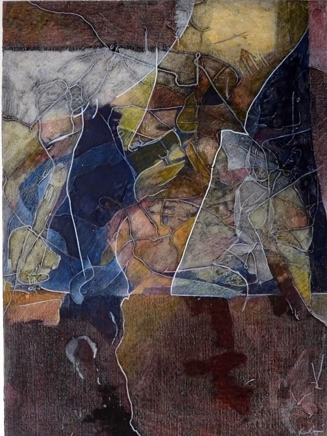 "Dream Dancing, 17x23"", collagraph by Garry C Kaulitz"