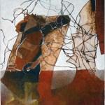 "De'tente, 19x25"", collagraph by Garry C Kaulitz"