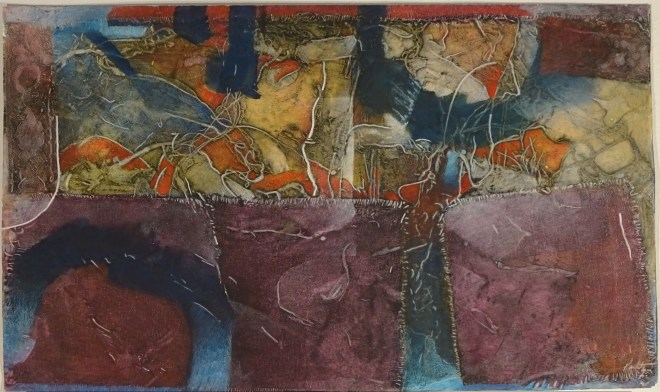 """Parade Day, 24x14"""", collagraph by Garry C Kaulitz"""