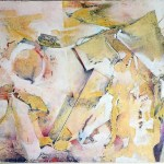 "Circus II, 30x22"", collagraph by Garry C Kaulitz"