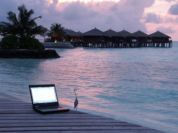 laptop on dock