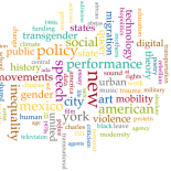 Word cloud showing frequency of keywords