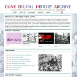 Home page of the CUNY Digital History Archive