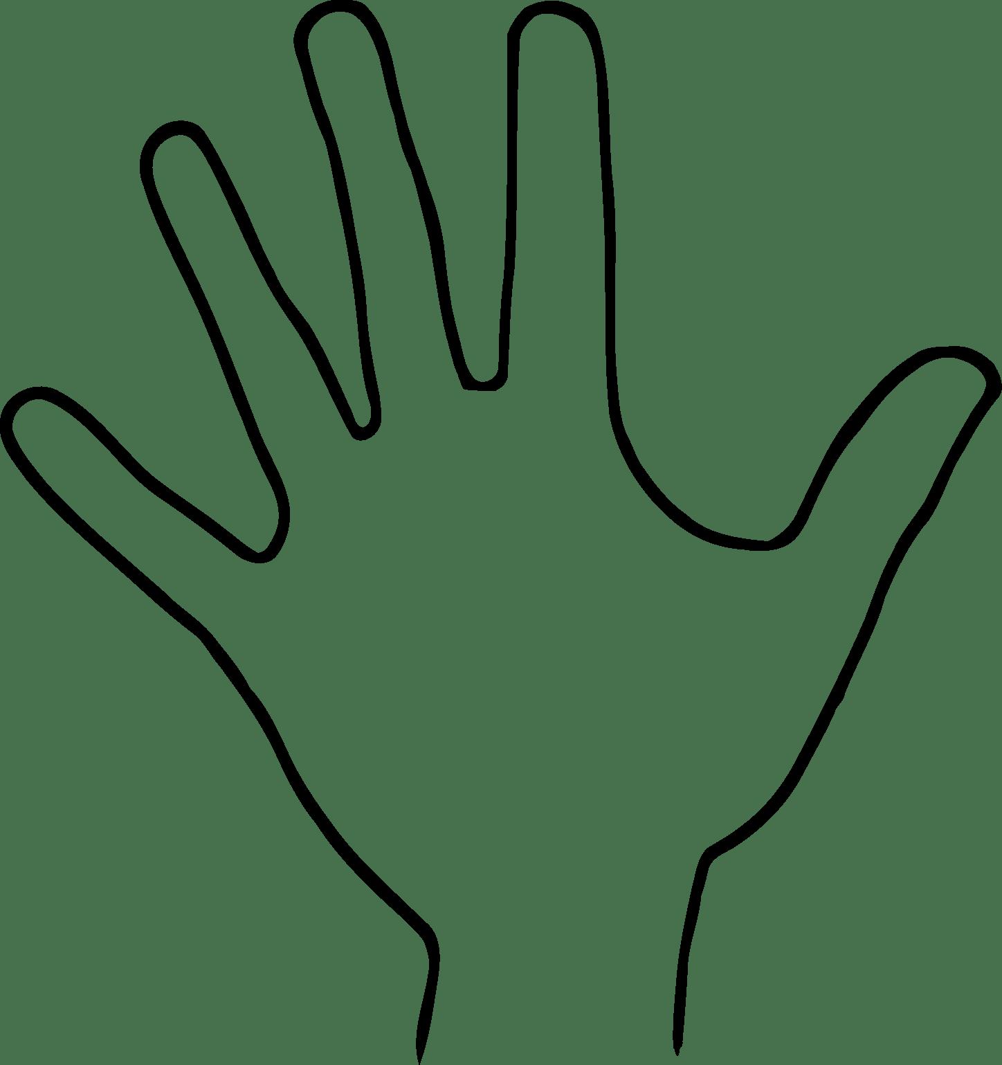 Hand Outline Gclipart