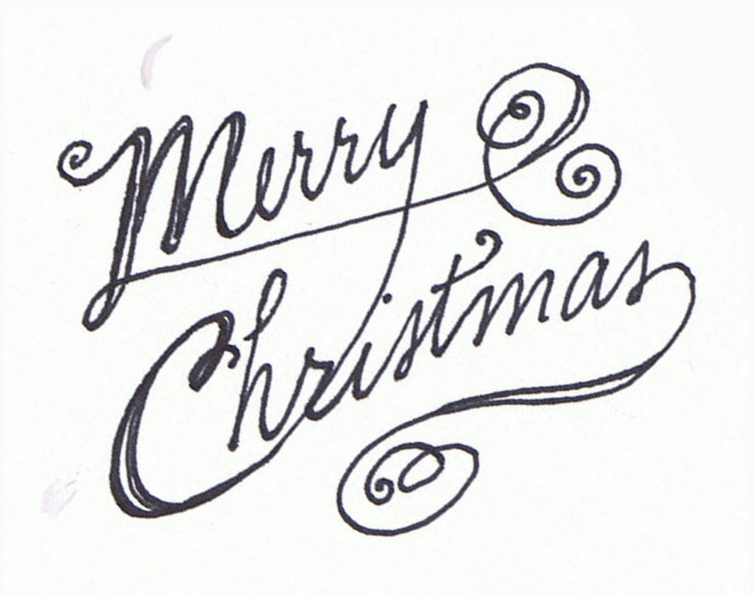 Merry Christmas Words Merry Christmas Word Clipart 4