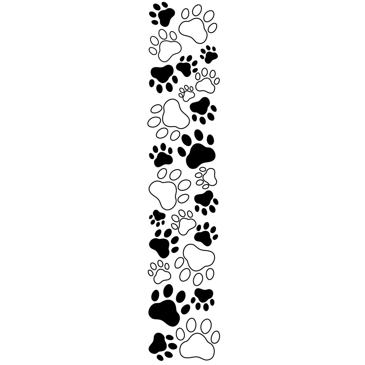 Paw Print Clipart Border Gclipart