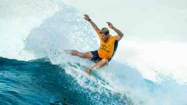 Current World Number One's John John Florence and Caroline Marks Fly Through their Seeding rounds at the Corona Bali Protected
