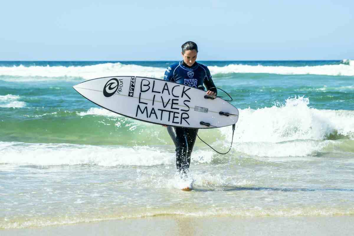 Tyler Wright taking out the Tweed Coast Pro the day after her powerful message in solidarity with Black Lives Matter.  <B>Photo: WSL / Matt Dunbar</b>