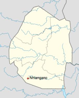 The town of Nhlangano, Swaziland. (Courtesy of Wikipedia)