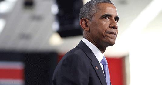 Barack Obama during a speech