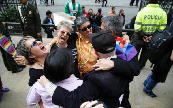 Marriage equality campaigners celebrate the ruling