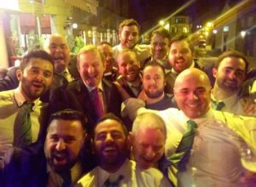 The Emerald Warriors with Taoiseach Enda Kenny