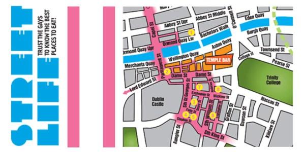 Street life Map Dublin City Centre June 2016