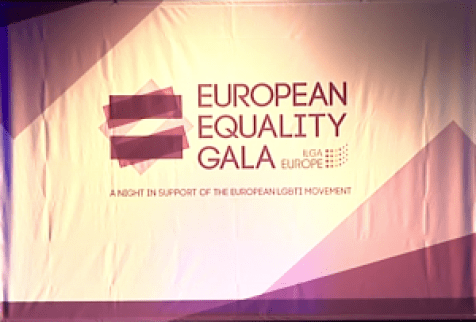 European Equality Gala banner at Panti's speech about equality after orlando mass shooting