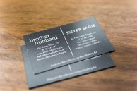 Brother hubbard - business cards