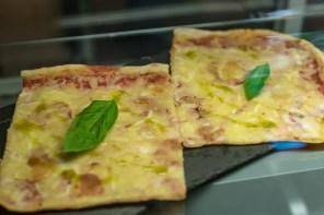 Tasty pizza slices in Aperitivo