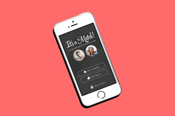 A picture of a phone with a match on Tinder, as matchmaker Willie Daly admits that he didn't know that Tinder was an app.