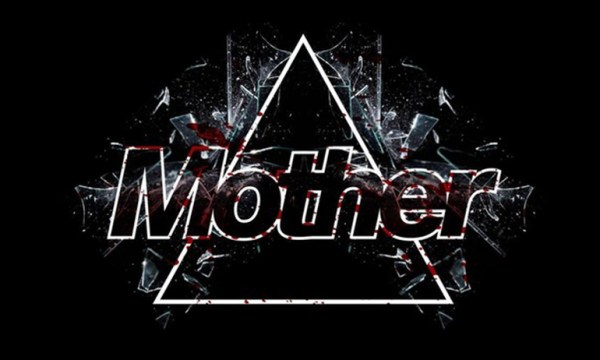 Mother written inside a triangle with bloody shards of glass. Mother is is one of the Halloween Parties for LGBT people in Dublin