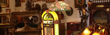 A jukebox which you could buy at the national antiques art and vintage fair