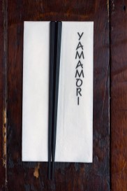 Chopsticks and napkin from Yamamori Sushi, who's manager Graham Ryan we interviewed in this month's Amuse Bouche