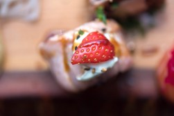 A strawberry on sushi from Yamamori Sushi, who's manager Graham Ryan we interviewed in this month's Amuse Bouche