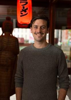 Graham Ryan standing at the front door of yamamori sushi