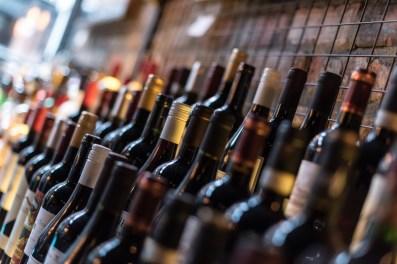 Wine bottles at San Lorenzo's