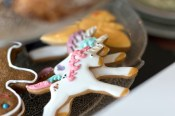 Unicorns made of gingerbread at the cake cafe and slice which are both owned by Ray O'Neill