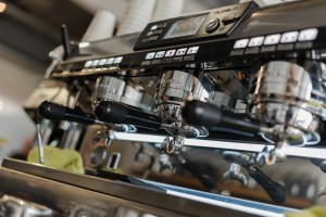 Coffee machines in Two Boys Brew café