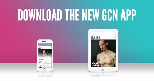An iPhone and iPad with the new GCN app installed on them and open, and the words download the new gcn app behind them