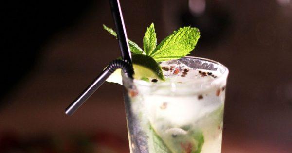 close-up of a cocktail at BANG restaurant